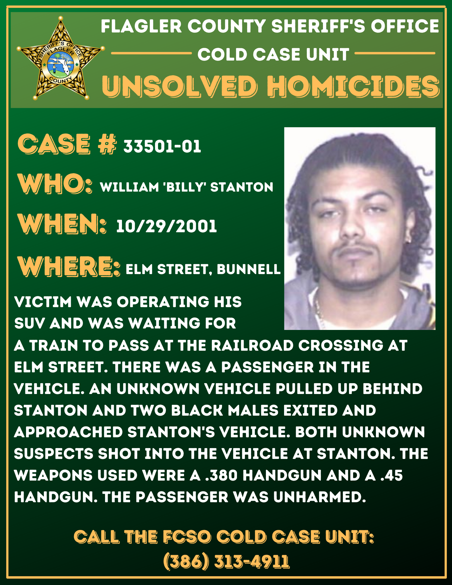 FCSO Cold Case William Stanton