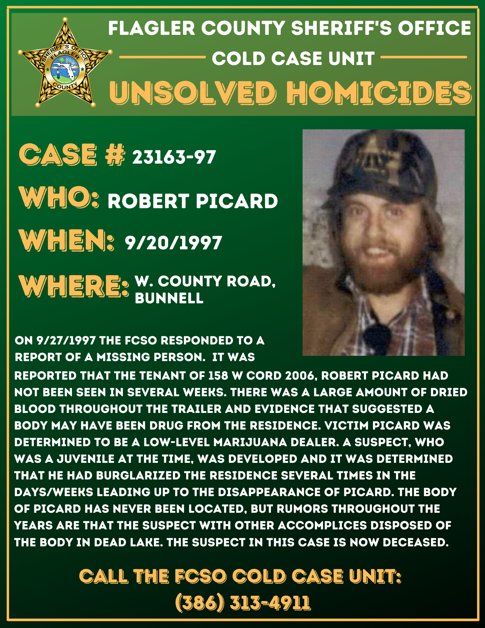 Cold Case Robert Picard