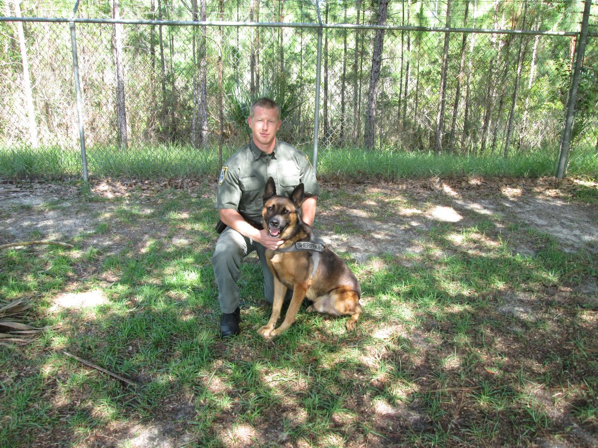Cpl Gimble and K-9 Marko -