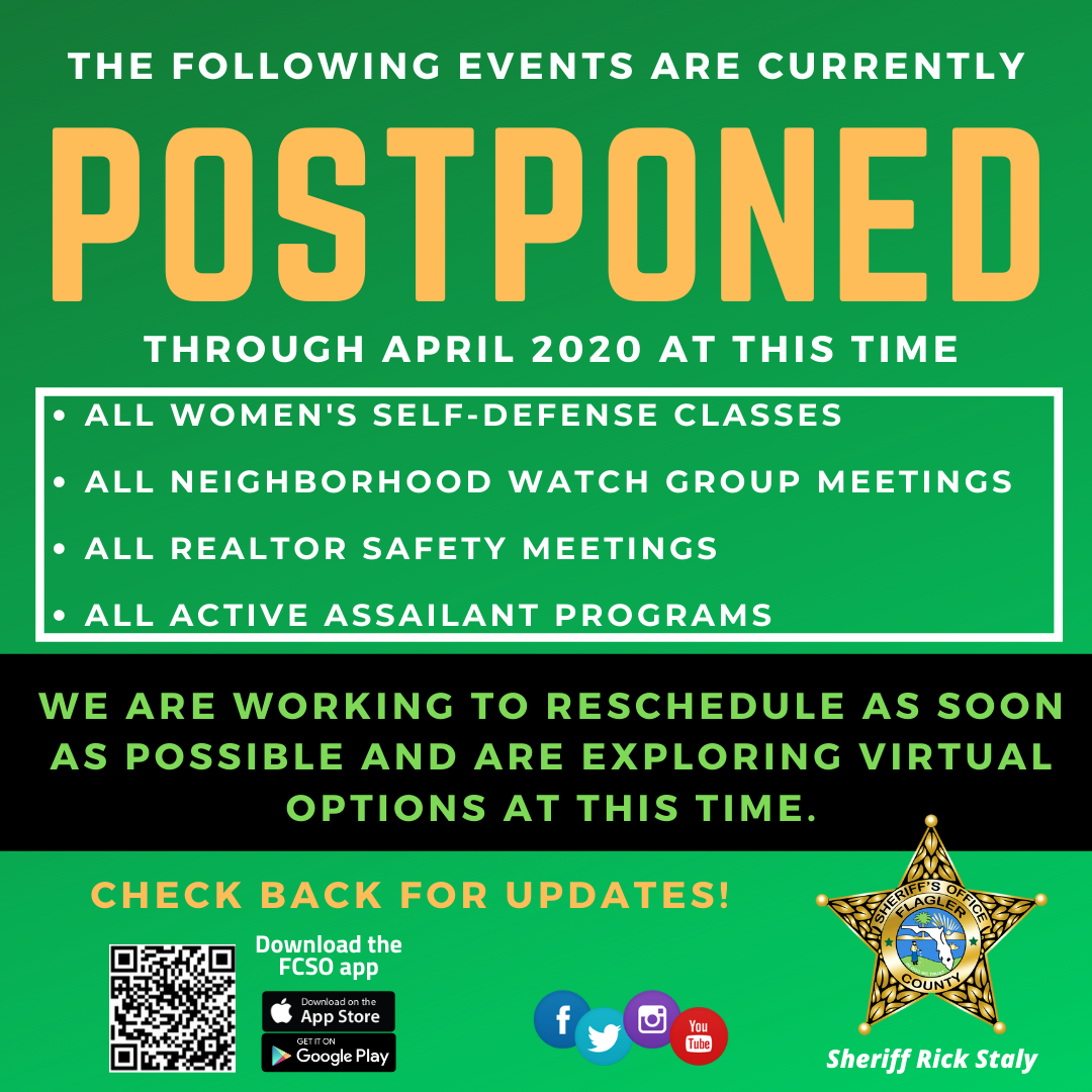 Postponed FCSO Events