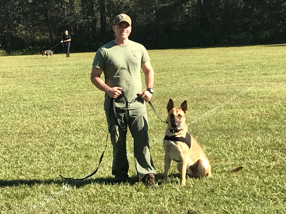 Dep Duenas and K-9 Valor at Training -