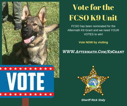 Help the FCSO K9 Unit Win the 2018 Aftermath K9 Grant