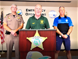 Video News Release: Sheriff Staly gives Monday update on Hurricane Dorian