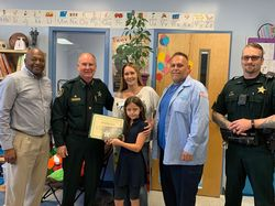 Sheriff Presents 'Great Kids' Awards for April