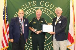 SAR Presents Sheriff with Law Enforcement Commendation Medal