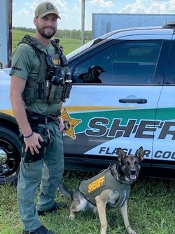 FCSO Flagler County Sheriff's Office K-9 Axle has received donation of body armor